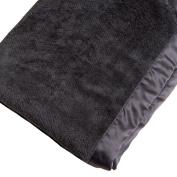 P.J. Salvage Kids Unisex Solid Waffle Blanket Black One Size
