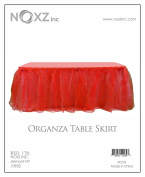 NOXZ Inc Organza Table Skirt for Every Occasions,