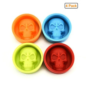 GuDoQi Silicone Skull Muffin Cup Skull Shape Moulds Non Stick Baking Tools for Cake Pudding Chocolate Ice Biscuit
