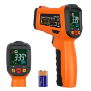 Rhinoco Digital Laser Temperature Gun Infrared Thermometer Gun Non-contact Meat BBQ Cooking Thermometer Gun -58°F~1022°F Large Colour Backlit Display with 12 Point Aperture Temperature Alarm Function