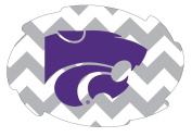 Kansas State Wildcats 13cm x 15cm Chevron Swirl Magnet Single
