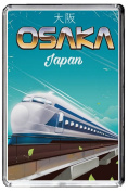 F157 OSAKA FRIDGE MAGNET JAPAN VINTAGE TRAVEL PHOTO REFRIGERATOR MAGNET