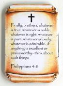 Philippians 4:8 Bible Verse Fridge Magnet