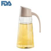 Olive Oil Dispenser Bottle, 500ml Vinegar Cruet with Automatic Cap Design FDA Approved