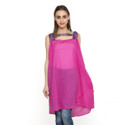 Rose Pink Pure Cotton Tunic with Lace