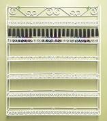 Pana Brand Professional Wall-Mounted Sturdy Metal Frame Nail Polish Rack Display Organiser (Holds Up to 100 Bottles)