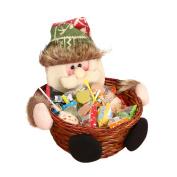 Christmas Candy Storage Basket Gift