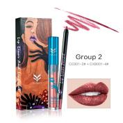 Professional Lipliner Waterproof Liquid Lipstick Soft Matte Long-Lasting Diamond Metal Shine Lip Gloss