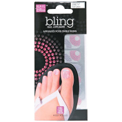 Nail Bliss Toe False Nail, Pink and Purple Swirls, 16 Count