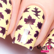 Whats Up Nails - Leaves Nail Stencils Stickers Vinyls for Nail Art Design