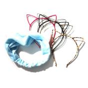 Manc GG Boutique Cat Ear Headband Headwear Hair Head Bands Hair Accessories for Women and Girls 6PCS