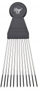 Diane Large Fan Pick, Black 2 combs, stainless steel teeth, stainless, steel, coated tips, won't hurt your scalp, won't pull on your hair, short hair, thin hair, thick hair, long hair, straight hair, men and women, adults and kids, boys and girls