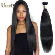 Uneed Hair 8A Straight Brazilian Virgin Human Hair 1Bundle Unprocessed Brazilian Virgin Straight Human Hair Weave 30cm Natural Colour