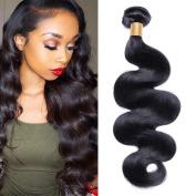 Brazilian Remy Body Wave Hair Bundles 100% Unprocessed Virgin Hair Extensions Natural Black Colour 30cm