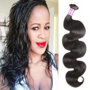 "ZSF Hair Brazilian body wave bulk Hair Brazilian human hair for braiding bulk no attachment 4pcs Brazilian braid hair in human bulk hair Mix Length 20""20""20""20"""
