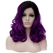Fashion 45cm & 180g Heat Resistant Fashion Cosplay Wig Women Girls Long Curly Synthetic Hair