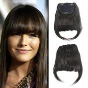 Luxwig Brazilian Human Hair Clip-in Hair Bang Fringe Short Straight Hair Extension for Black Women 15cm - 20cm