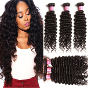 Beauty Forever 6A Virgin Brazilian Hair Deep Curly Wave 3Bundles 100% Unprocessed Human Hair Extensions