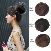 HAIQUAN Natural Black 8A Human Hair Bun Extension Donut Chignon Hairpiece Wig UP DO Ballerina Knoten Topknot Scrunchie Hairpiece