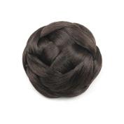 DENIYA Braided Bun Hair Extensions Costume Hairpiece Wedding Hair Pieces Dark Brown