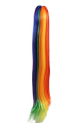 ROLECOS Womens Long Straight Rainbow Ponytails