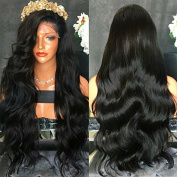 FENJUN HAIR 100% Brazilian Virgin Human Hair Lace Front Wigs For Black Women Wet And Wavy Full Lace Front Wigs 150% Density Glueless Wigs With Baby Hair
