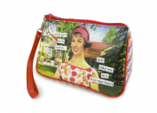 Anne Taintor Matte Vinyl Travel Cosmetic Bag - Good Girls Go to Heaven