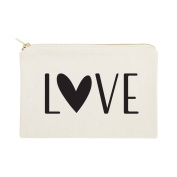 The Cotton & Canvas Co. Love Cosmetic Bag and Travel Make Up Pouch