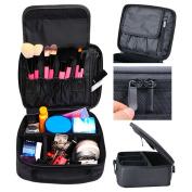 Makeup Bag,Coofit Portable Travel Bags Case Train Cases Cosmetic Bag Toiletry Bag Makeup Bag Case Black