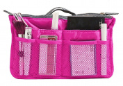 Travel Cosmetic Makeup Clear Insert Handbag Case Zipper Expandable Toiletry Organiser Pouch Tidy Bag in Bag Mesh Purse Large Liner Organiser Top Handle Gadget Storage Holder