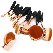 Kingstar Bigger Oval Plating Rose Golden Makeup Brush Cosmetic Foundation Cream Powder Blush Makeup Tool(Big Blush Brush)