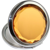 GuRun Double Sides Portable Foldable Pocket Makeup Compact Mirror Metal Ladies Round Crystal Make-up Mirror Cosmetic Mirror GR100