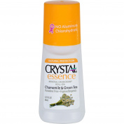 Crystal Essence Chamomile and Green Tea Mineral Roll-on Deodorant, 70ml -- 6 per case.