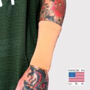 Tat2X Ink Armour Premium Forearm 15cm Tattoo Cover Up Sleeve - No Slip Gripper - U.S. Made - Light - ML