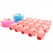 BonBon Rubber Pig Baby Bath Toy for Toddlers Swimming Rings Included 25pcs