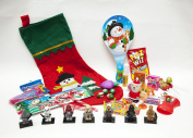 Filled Christmas Stocking ~ 2 Star Wars Building Block Figures ~ Toys ~ Candy ~ Great Christmas Gift