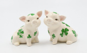 Cosmos Gifts 20789 Shamrock Pigs Salt and Pepper Shakers