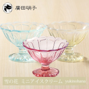 Respect for the Aged Day wedding gift Father's Day Mother's Day made in mini-ice cream nostalgic modern Hirota glass glass Japan