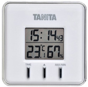 Is about to put a TANITA digital temperature-humidity metre; white TT-550-WH belonging to for two uses type / magnet