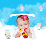 lulalula Colourful Baby ABS Teether Toy with Music Teeth Toys Educational Toys Infant Chewing Soft Teething Toys