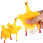 Squishy Toy,Y56 Kids Funny Squishy Squeeze Toys Chicken and Eggs Key Chain Ornaments/SqueezeToy/Relieve Stress Toy/Gift Toy/Children Amusing Toy