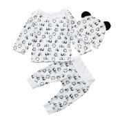 Boys Clothing Sets, SHOBDW 3PCS Baby Girl Cartoon Panda Tops + Pants Newborn Toddler Outfit Clothes