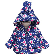 For 0-36 Months Kids ! sunnymi® Fashion Cute Newborn Infant Toddler Baby Girls Winter Cotton Bow Hooded Coat Thick Warm Zipper Outwear Clothes