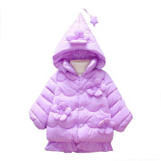 Baby Coat,Dreamkon New Fashion Baby Toddler Girls Autumn Winter Solid Hooded Coat Cloak Jacket Thick Warm Clothes Outwear for 1-5 Years Old