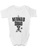 Mermaid Squad Babygrow Bodysuit Baby Clothes New Baby Boy Girl Baby