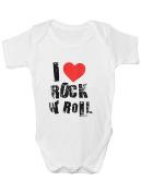 Rock N Roll Babygrow Music Bodysuit Baby Clothes New Baby Boy Girl Baby