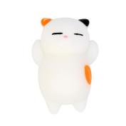 Pochers® 3pcs Cute Mochi Squishy Cat Squeeze Healing Fun Kids Kawaii Toy Stress Reliever Decor