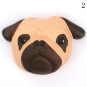 HAPPYQUDA Large Kawaii Squishy Dog Face Bread Super Soft Slow Rising Gift Phone Strap Cream Scented Toy 1PCS Black