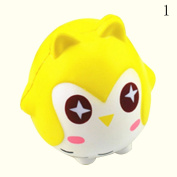 HAPPYQUDA Kawaii Squishy Owl Bread Super Soft Slow Rising Gift Cream Scented Toy 1PCS Yellow