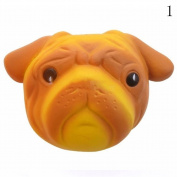 HAPPYQUDA Large Kawaii Squishy Dog Face Bread Super Soft Slow Rising Gift Phone Strap Cream Scented Toy 1PCS Yellow